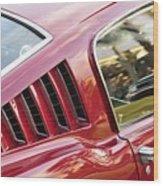 Classic Mustang Fastback Wood Print