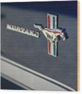 Classic Mustang Logo Closeup Wood Print