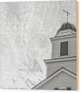Classic New England Church Etna New Hampshire Wood Print