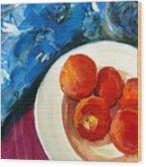 Classic Peaches Wood Print