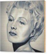 Classic Rita Hayworth Wood Print