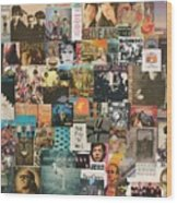 Classic Rock Lp Collage 1 Wood Print