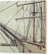 Classic Sail Ship Wood Print