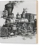 Classic Steam Wood Print by James Williamson