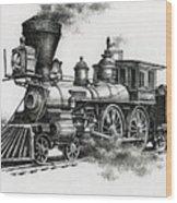 Classic Steam Wood Print