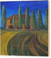 Classic Tuscan Sunset Wood Print