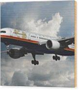 Classic Twa Boeing 757-231 Wood Print