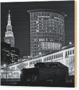 Classic View In Cle Wood Print