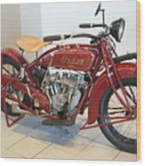 Classic Vintage Indian Motorcycle Red   # Wood Print