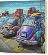 Classic Volkswagen Beetle - Old Vw Bug Wood Print