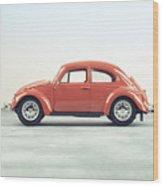 Classic Vw Bug Red Wood Print