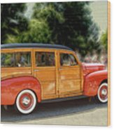 Classic Woody Station Wagon Wood Print