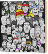 Classic Wrestling Superstars Wood Print by Gary Niles