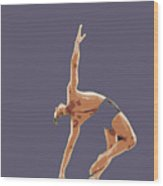 Classical Ballet Dancer Wood Print