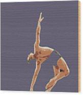 Classical Ballet Dancer Wood Print