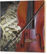 Classical Cello Wood Print