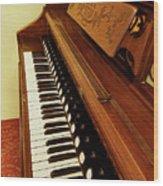Vintage Organ Wood Print