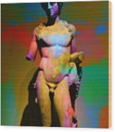Classical Sculpture In Colour Wood Print