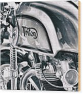 Classical Triton Cafe Racer Wood Print