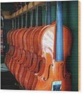 Classical Violins Wood Print