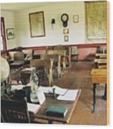Classroom Inside Of Charlestown Rhode Island Wood Print
