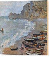 Claude Monet: Etretat, 1883 Wood Print