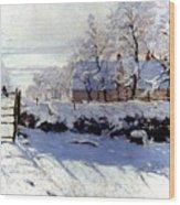 Claude Monet: The Magpie Wood Print
