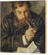 Claude Monet The Reader 1874 Wood Print