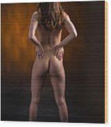 Claudia Nude Fine Art Print In Sensual Sexy Color 4864.02 Wood Print