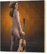 Claudia Nude Fine Art Print In Sensual Sexy Color 4875.02 Wood Print
