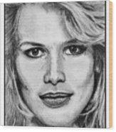 Claudia Schiffer In 1992 Wood Print