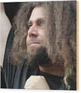 Claudio Sanchez Of Coheed And Cambria Wood Print