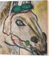 Clay Horse Wood Print
