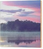 Clay Lake Sunrise Wood Print