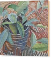 Clay Pot Wood Print