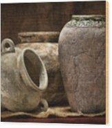 Clay Pottery II Wood Print
