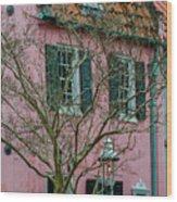 Clay Tile Roof In Charleston Wood Print