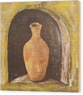 Clay Vase Wood Print