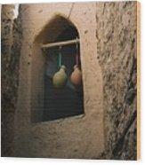 Clay Water Bottles In Oman Wood Print