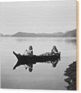 Clayoquot Canoe, C1910 Wood Print by Granger