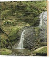 Clayton Beach Falls Wood Print
