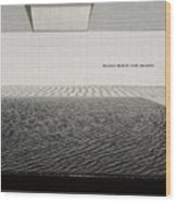 Clean Abstract Lines Of The Aga Khan Museum Facade With Black Po Wood Print
