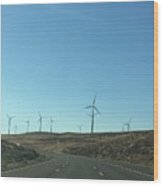 Clean Energy On The Open Road Wood Print