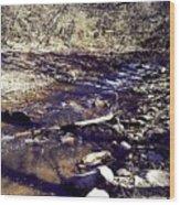 Cleansing Stream Wood Print