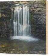 Clear Creek Water Fall Wood Print