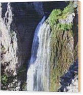 Clear Creek Waterfall  Wood Print