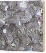 Clear Crystal Amethyst Wood Print