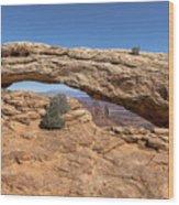 Clear Day At Mesa Arch - Canyonlands National Park Wood Print