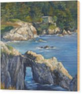 Clear Day At Point Lobos Wood Print