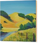 Clear Fall Day At Briones Wood Print